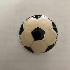 Jewelry - Soccer Ball Pendant Pin Soccer Mom Coach Jewelry